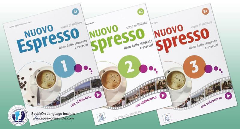 کتاب آموزش زبان ایتالیایی nuovo espresso