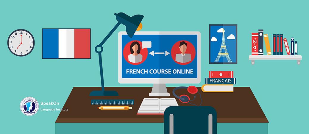 بنر کلاس آنلاین فرانسه موسسه زبان اسپیکان